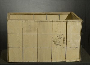 WOOD CRAB CRATE